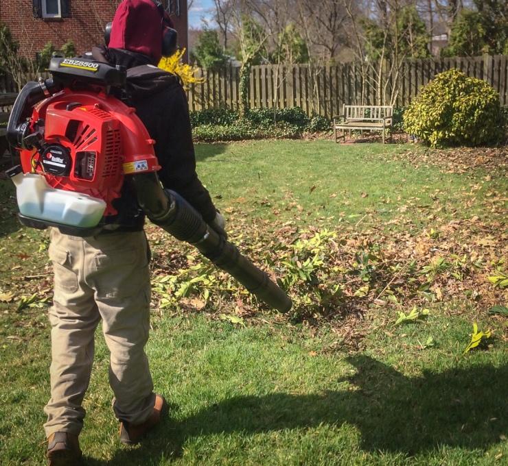 Apex Lawnco cleanup crewman