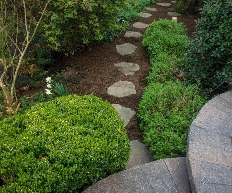flagstone path installation