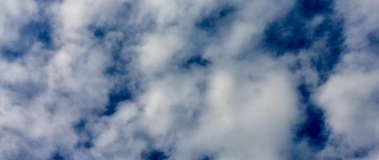 rain clouds above